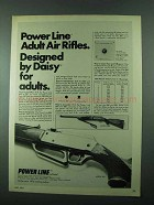 1975 Daisy Power Line Model 881 Rifle Ad - For Adults