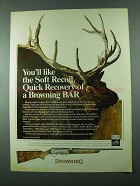 1975 Browning Grade IV BAR Ad - Soft Recoil