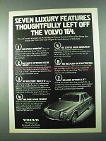 1975 Volvo 164 Car Ad - Seven Luxury Features