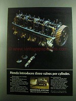 1975 Honda Civic CVCC Car Ad, Three Valves Per Cylinder