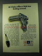 1975 AC-Delco Spark Plugs and UNI-SET Ad - Little Less