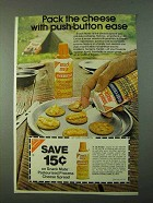 1975 Nabisco Snack Mate Cheese Ad - Push-Button Ease