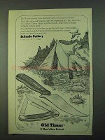 1975 Schrade Old Timer Knives Ad - Man's Best Friend