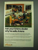 1975 Ariens Tillers, Tractors and Riding Mowers Ad