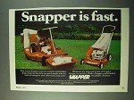 1975 Snapper Mowers Ad - Snapper is Fast