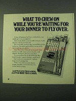 1975 Slim Jim Beef Snacks Ad - What To Chew On