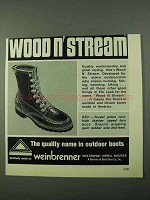 1975 Weinbrenner Wood n' Stream 630 Boot Ad