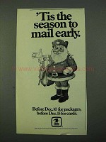 1975 U.S. Mail Ad - 'Tis the Season to Mail Early