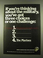 1974 U.S. Marines Ad - You've Got Choices