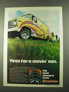 1974 Firestone Hard Charger Tires Ad - For a Movin' Van