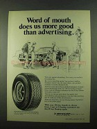 1974 Dunlop Elite Steel Belted Radial Tire Ad
