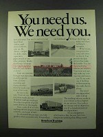 1974 American Trucking Ad - You Need Us We Need You