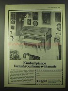1974 Kimball Piano Ad - Furnish Your Home with Music
