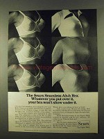 1974 Sears Seamless Ah-h Bra Ad - Won't Show Under