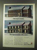 1974 Andersen Windowalls Ad - One Way to Insulate