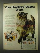 1974 Purina Cat Chow Ad - Chow Chow Lessons