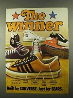 1974 Sears Converse The Winner Shoes Ad