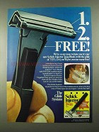 1974 Schick Injector Twin Blade Ad