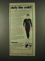 1974 Damart Thermawear Ad - Defy the Cold