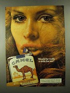 1974 Camel Cigarettes Ad - Would He Walk a Mile for Me?