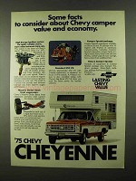 1975 Chevy Cheyenne Pickup Truck Ad - Camper Special