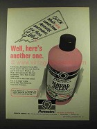 1974 Permatex Naval Jelly Rust Dissolver Ad - Another One