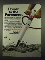 1974 Gabriel HiJackers Shocks Ad - Power to Pavement