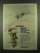 1974 Evinrude V-4 Outboard Motor Ad - A Long Way