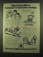 1974 State Farm Insurance Ad - Boatload of Savings