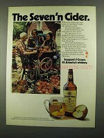 1974 Seagram's 7 Crown Whiskey Ad - Seven'n Cider