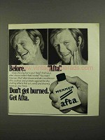 1974 Mennen Afta After-Shave Ad - Before Afta