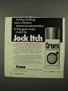 1974 Cruex Medicated Spray Powder Ad - Itching, Chafing
