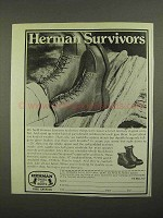 1974 Herman Survivors Boots Ad