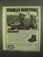 1974 Herman Survivors Gun Boot, Model 7194 Ad