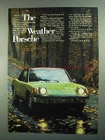 1973 Porsche 914 Car Ad - The Weather Porsche