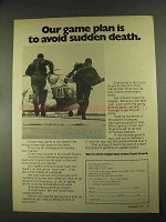 1972 U.S. Coast Guard Ad - Plan to Avoid Sudden Death