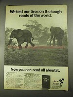 1972 Sears Tires Ad - Test on the Tough Roads