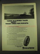 1972 Firestone Transport Truck Tire Ad, Old Wives Tales
