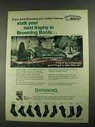 1972 Browning Boots Ad - Stalk Your Next Trophy In