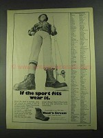 1972 Weinbrenner Wood N' Stream Boots Ad - Sport Fits
