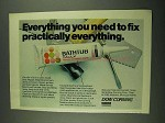 1972 Dow Corning Bathtub Caulk Ad - Fix Everything