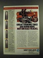 1987 Metzeler ME88, ME88F, ME33 and ME77 Tires Ad