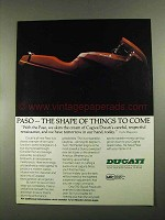 1987 Ducati Paso Motorcycle Ad - Shape of Things