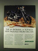 1987 Ducati Indiana Motorcycle Ad - Totally New Package