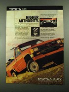1987 Toyota 4x4 Pickup Truck Ad - Higher Authority