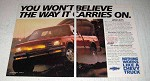 1987 Chevrolet S-10 4x4 Pickup Truck Ad - Carries On