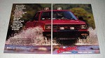 1987 Chevrolet S-10 4x4 Pickup Truck Ad - How to Drive