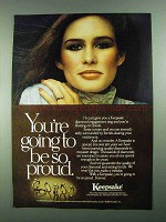 1981 Keepsake Jewelry Ad - You're Going to Be So Proud