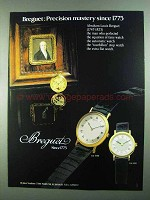 1981 Breguet BA 3000 and BA 8110 Watches Ad