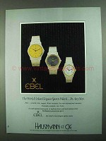 1981 Ebel Watches Ad - Most Elegant